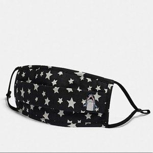 Coach Sharky Facemask with Star Print